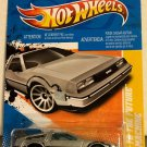 Back To The Future Time Machine * LONG CARD 2011 Hot Wheels