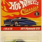 Hot Wheels Classics '71 Plymouth GTX - Green - Series 1