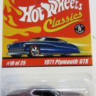 Hot Wheels CLASSICS Series 1 #10/25 1971 PLYMOUTH GTX - Purple