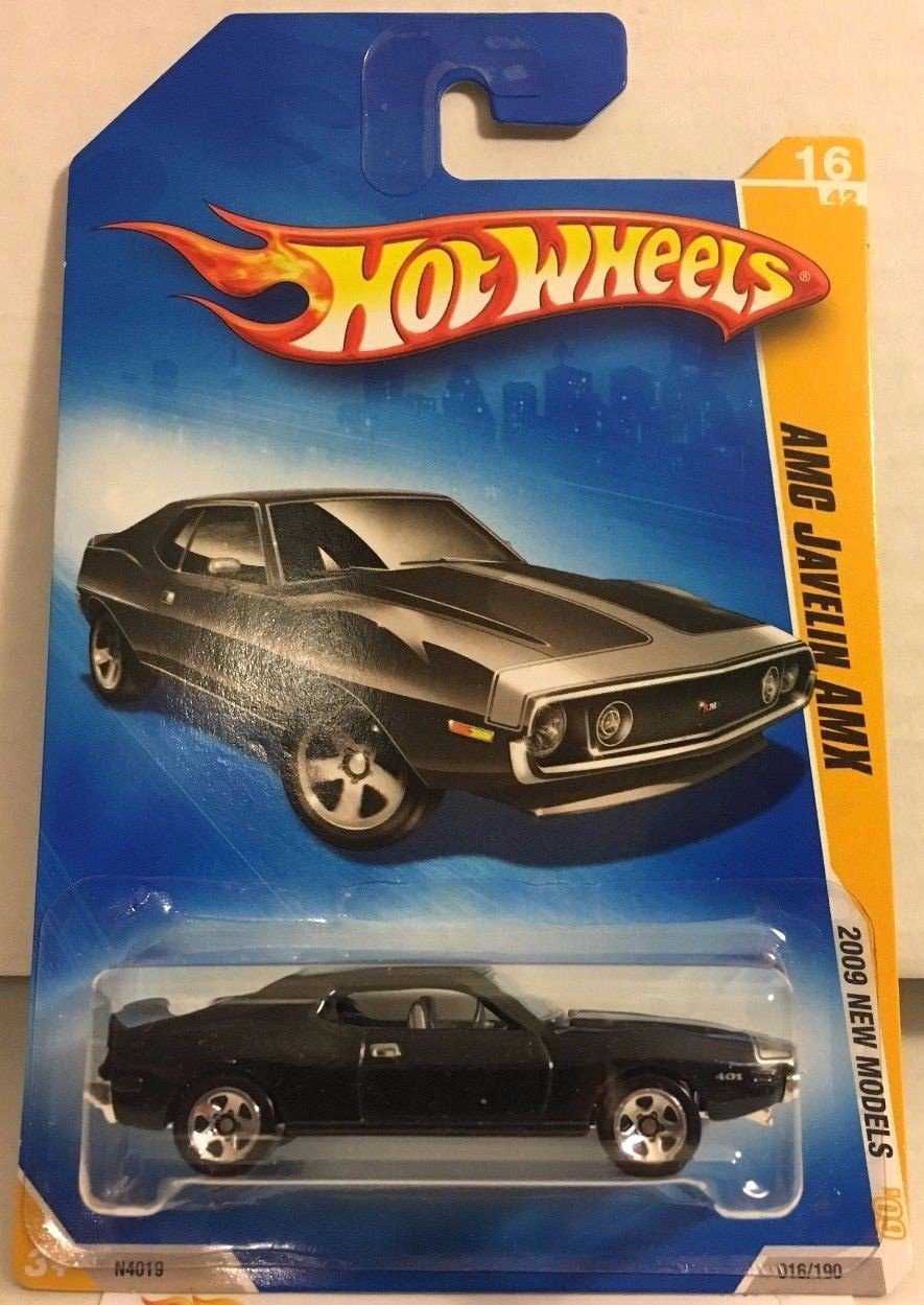 AMC Javelin AMX #16 * Black * 2009 Hot Wheels *