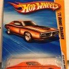'71 Dodge Charger #36 * Orange * 2010 Hot Wheels *