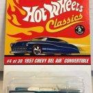 1957 Bel Air Convertible #4 * Ice BLUE * Classics Hot Wheels *