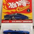 1970 Chevelle Convertible #1 * BLUE * Classics Hot Wheels *