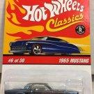 1965 Mustang #6 * Steel BLUE * Classics Hot Wheels *