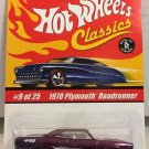 1970 Plymouth Roadrunner #9 * PURPLE * Classics Hot Wheels *