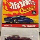 1963 Corvette #12 * Purple * Classics Hot Wheels *