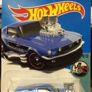 "Hot Wheels '68 Ford Mustang - BLUE ""Tooned"""