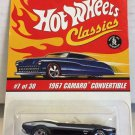 Hot Wheels Classics 1967 Camaro Convertible #7 * DARK BLUE * Series 2