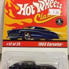 Hot Wheels Classics 1963 Corvette #12 * BLACK * Series 1