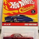 Hot Wheels Classics 1965 Mustang #6 * RED *