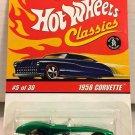 Hot Wheels Classics 1958 Corvette * GREEN * Series 2