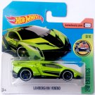 Lamborghini Veneno #165 * Green * 2017 Hot Wheels Short Card *