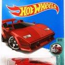 Hot Wheels 2017 Tooned Lamborghini Countach (RED) 152/365 - Long Card