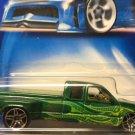 2003 Hot Wheels Chevy Silverado Pickup Truck - GREEN