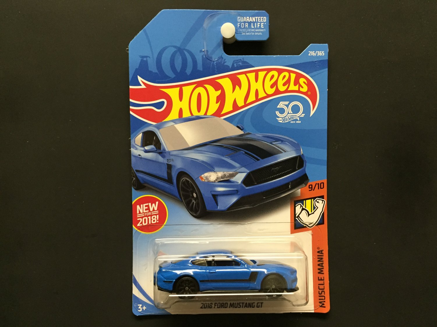 2018 hot wheels 50th 2018 ford mustang gt blue muscle mania 9 10