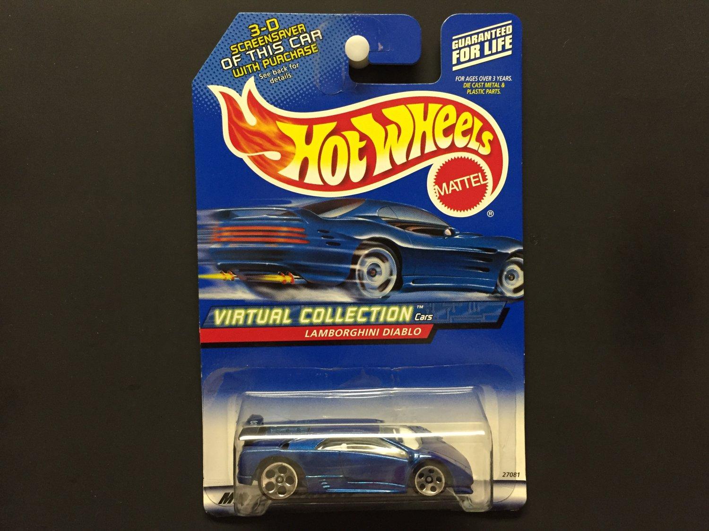 Hot Wheels Lamborghini Diablo Blue Virtual Collection Cars 2000