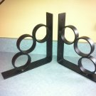 "1 pair of Semi flat black industrial iron shelf brackets 10"" x 10"""