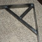 "One 10"" x 10"" x 2"" Industrial iron shelf bracket support"