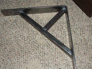 "One 10"" x 10"" x 2"" Industrial iron shelf bracket support"