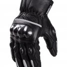 Leather Moto Gloves - Raven