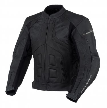TRANSPORTER BLACK MOTORCYCLE LEATHER JACKET