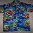 Hawaiian Luau Woody Wagon Car Shirt Men's M