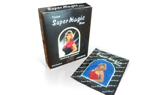 SUPER MAGIC MAN TISSUE PREVENT PREMATURE EJACULATION PERFORM LAST LONGER SEX