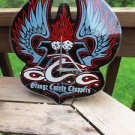 Orange County Choppers Collector's Glass Wall Clock