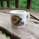 FOOTBALL FANS!! SAN FRANCISCO 49ERS  NFL TINY SMALL MINIATURE MUG - HELMET LOGO