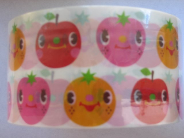 Cram Cream Rainbow Color Fruit Face Deco Tape