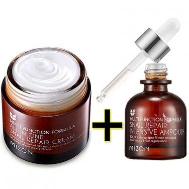 Mizon All In One Snail Repair Cream 75g + Snail Repair Intensive Ampoule 30ml