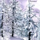 White Christmas Dreams - Watercolor Greeting Cards - Box of 8 5inch by 7inch greeting cards