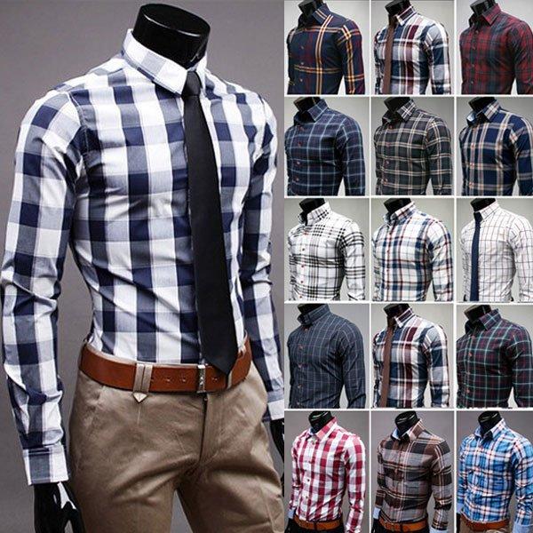 Men long sleeve flannel shirts plaid shirt polo shirts mens flannel shirts clothes