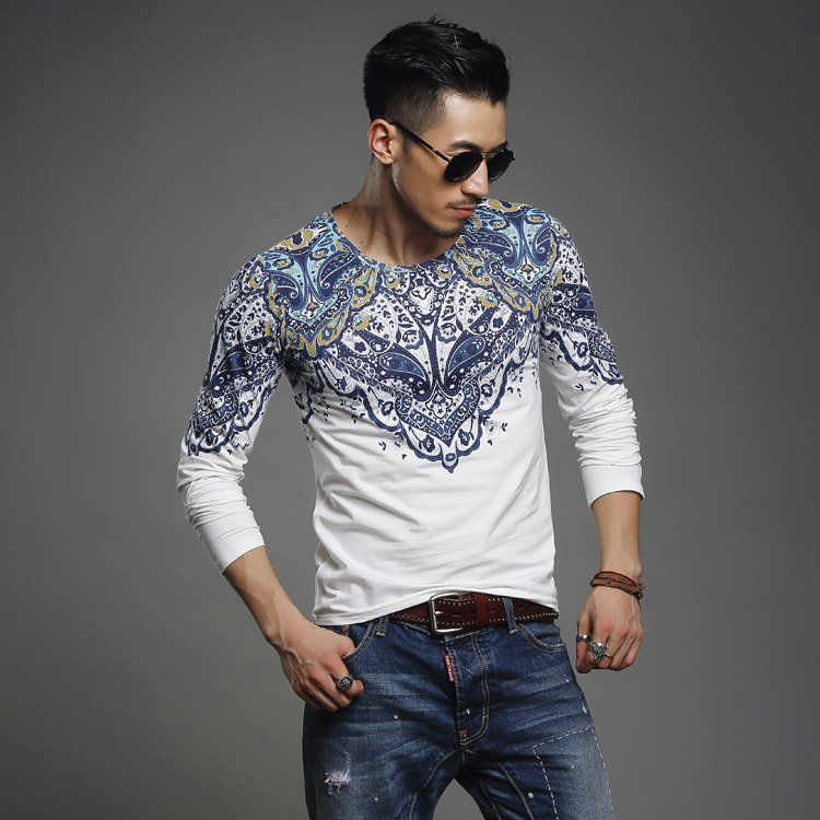 HIGH QUALITY comfortably Men cool T shirt  cool tee shirt tee shirts Long Sleeve  CLOTHING