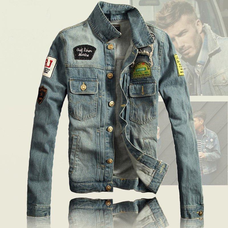 men denim jacket online shopping trendy clothes jean jacket mens cool