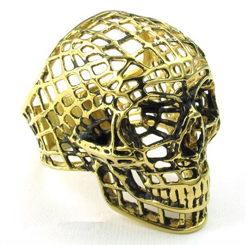 titanium rings for men SKULL rings fashion jewelry COOL gift for him