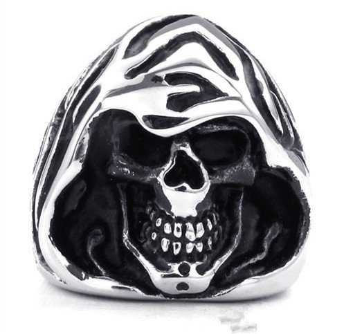 titanium rings for men  skull cool Finger Rings wizard style