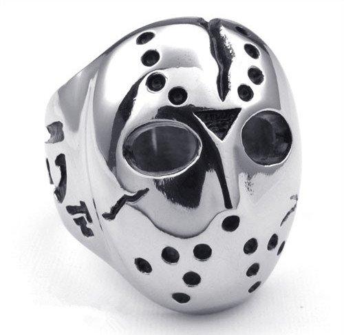 titanium rings for men skull cool Finger Rings Men titanium cool ring jason mask