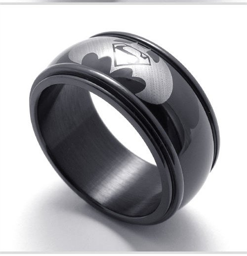 Men titanium ring Batman VS superman titanium rings for men skull cool Finger Rings gifts