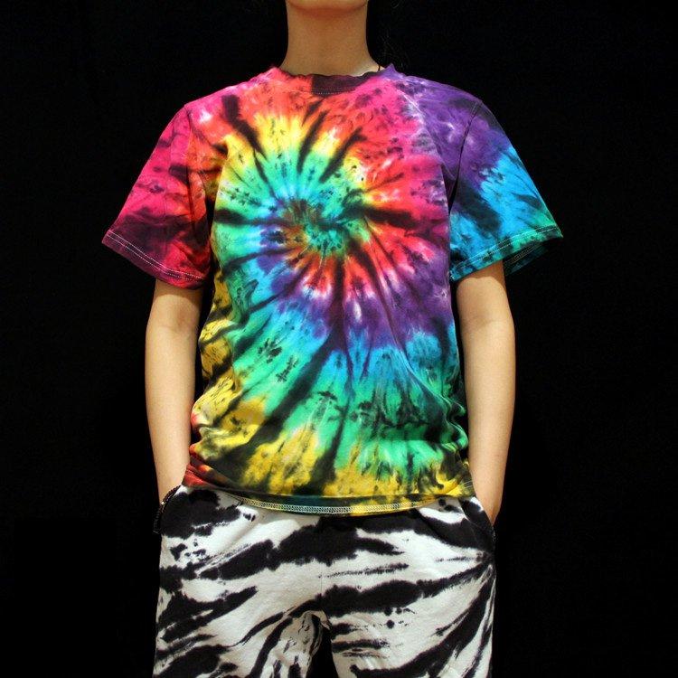 unique Men tie dye shirts Gifts for him tie dyeing tie dye designs professional Handmade