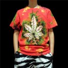 unique Men tie dye shirts leaf tie dyeing tie dye designs professional Handmade