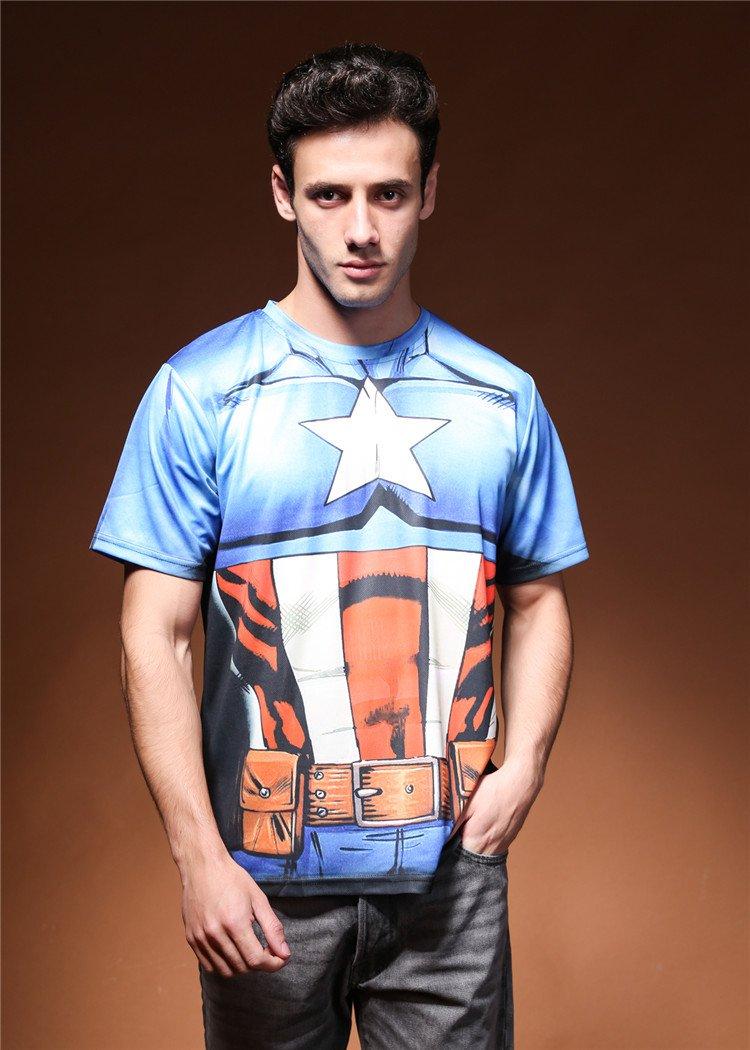 Men cool Captain America Logo tshirt  t shirts 3D print tshirts sport New Personalized T-Shirts