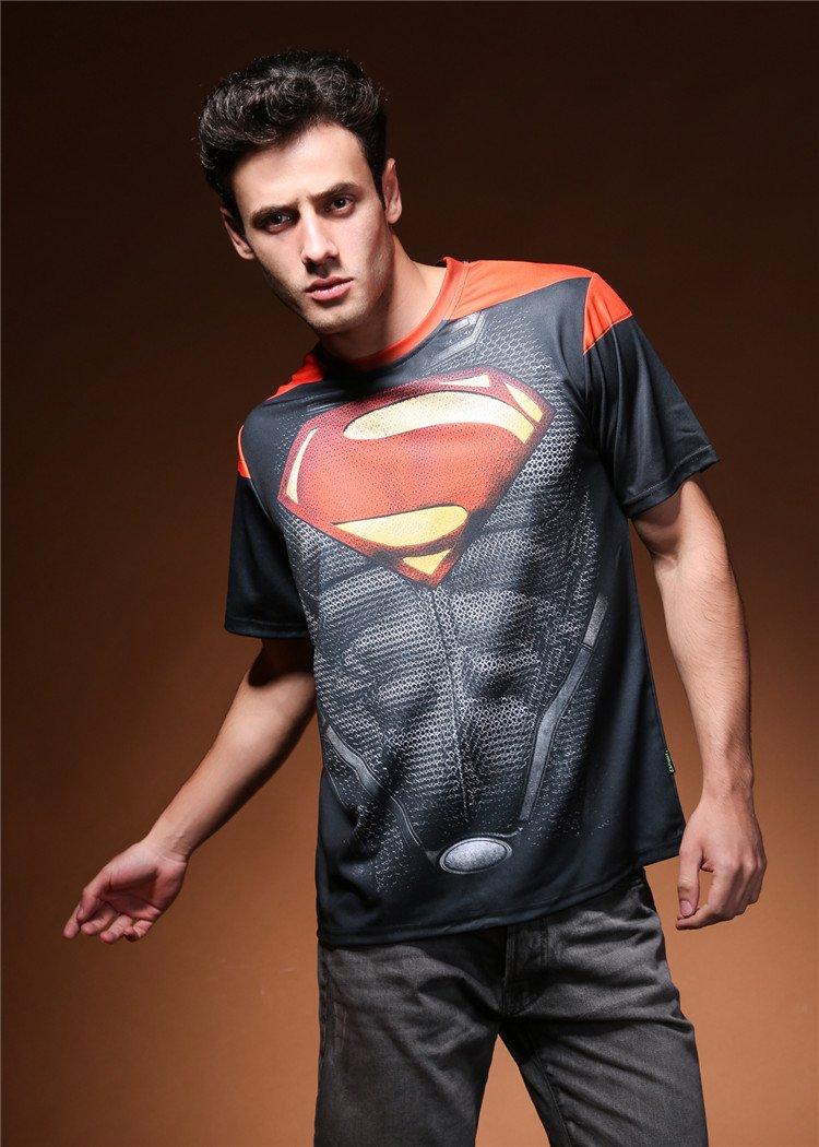 Men 3D print Superman's  Logo sport cool tshirt New Personalized  t shirts