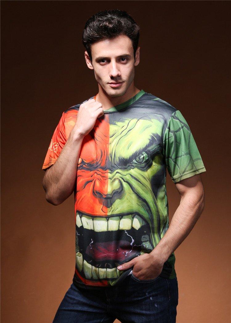 The Men 3D print Incredible Hulk Green Costume T-Shirts  cool tshirt New Personalized t shirts