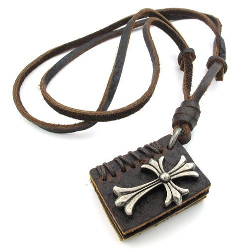 men Genuine Leather  Adjustable  chain necklaces chrome hearts love book Pendant best gifts