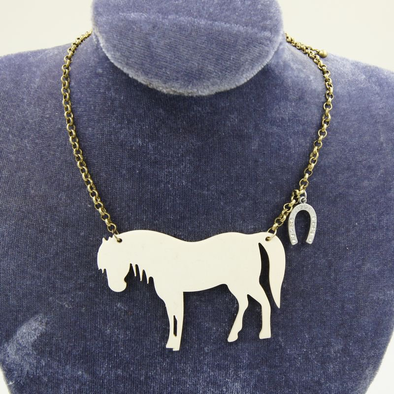 fashion jewelry necklaces pattern little pony pendants for women unique gifts C22-329