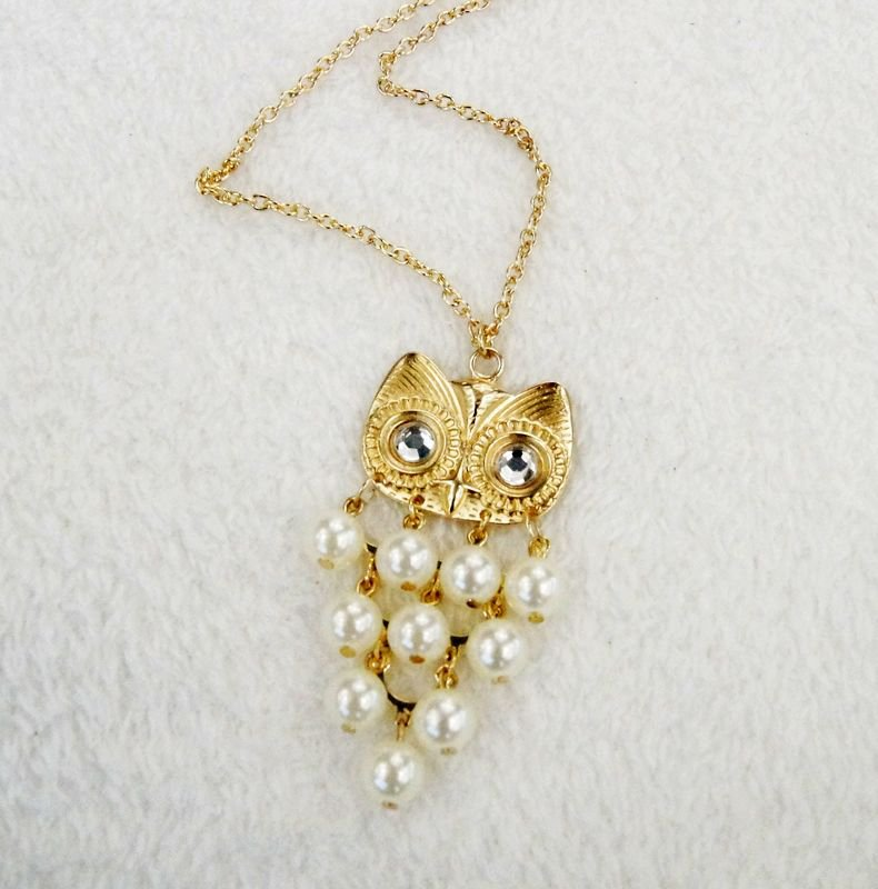 owl pendants long necklaces for women gift idea C21-380