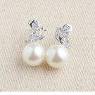 925 sterling silver  Butterfly pearl studs earring for women