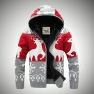 Free shipping Mens christmas zip hooded cardigan for holiday gifts