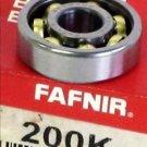 Fafnir 200K Light Duty Open Type Bearing, 10mm ID Bore X 30mm OD X 9mm W